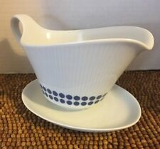 Bavaria Winterling Marktleuthen Blue Dots GRAVY BOAT UNDERPLATE 12oz 1.5 cups