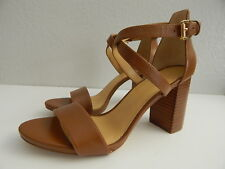 MICHAEL KORS - Woman's 9.5 M - Brown Leather Ankle Strap Sandal Heels - NWB