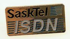 Vintage SaskTel ISDN Pin Saskatchewan Integrated Services Digital Network Tech