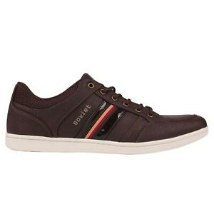 Soviet Mens Whitehall Shoes Casual Lace Up Padded Ankle Collar Tongue Stripe