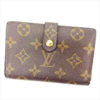 Louis Vuitton Wallet Purse Coin purse Monogram Brown Woman Authentic Used Y516