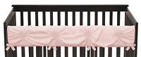 Sweet Jojo Solid Color Blush Pink Harper Shabby Chic Long Front Crib Rail Guard