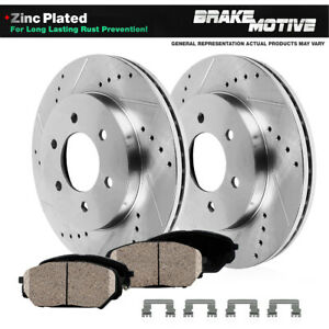 Front Drill And Slot Brake Rotors & Ceramic Pads For Colorado Canyon Isuzu