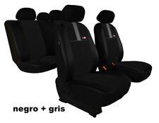 1+1 negro elegante asiento del coche referencia fundas para asientos ya referencias de tela
