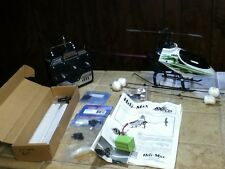 "HELI-MAX RC HELICOPTER ""AXE""  w/ paperwork and parts"