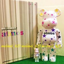 Bearbrick Medicom 2009 Atmos ~ White Star ver. 100% 400% 2pcs Set