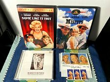Lot of 3 Marilyn Monroe Dvds & Cd - Some Like It Hot / The Misfits + Stamps Exc