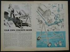 Cement Mixer 15 gallon 1960 HowTo build PLANS from auto parts