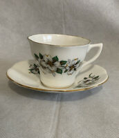 Vintage Enco National N.Y.C. Fine Bone China Tea Cup & Saucer Made in England