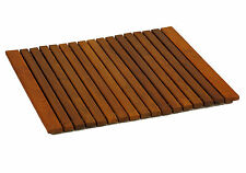 """Bare Decor Lykos String Spa Shower Mat in Solid Teak Wood Oiled Finish Large 24"""""""