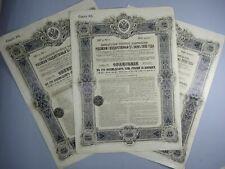 GOUVERNEMENT IMPERIAL DE RUSSIE 3 OBLIGATIONS Emprunt 5% 1906 Bonds