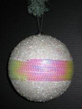 2er Set Bolas de Navidad Decoración para Árbol 11,5 cm en Blanco / Color