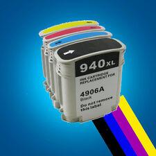 4 Ink Cartridges for HP 940XL Officejet Pro 8000 8000W 8500 8500W A809a