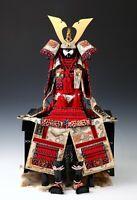 Japanese Beautiful Vintage Samurai Figure Red Color Doll -Yoshitoku Product-