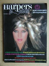 Harpers & Queen. May 1977. Angela Carter Story, David Bailey Photographs, etc