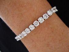 BELLE Donne Ragazze Diamante simulato 18K ORO BIANCO BRACCIALE TENNIS