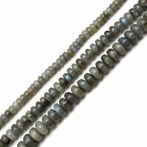 Natural Labradorite Smooth Rondelle Beads Size 4x6mm 5x8mm 15.5'' Strand