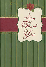 Green Wallpaper 8 Christmas Thank You Notes by Designer Greetings