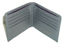 """SMITH & CANOVA Men's Grey Grained Leather Bifold Wallet 4.5"""" x 4"""""""