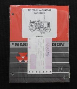 1978-84 MASSEY FERGUSON MF 220-2 220-4 TRACTOR PARTS CATALOG MANUAL SEALED MINTY