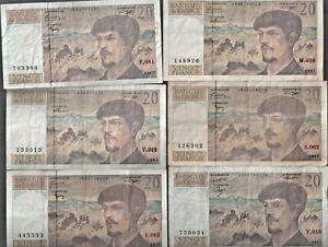 12 billets 20 francs debussy