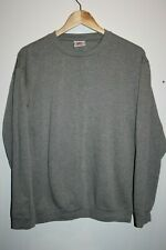 CTS Men's Fashion Grey Long Sleeve Crew Neck T-shirt Jumper Top Tee Size L