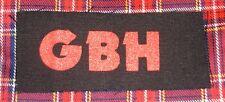 GBH DIY Patch- Punk Crust Black Flag Off Leftover Crack Oi