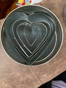 Fox Run 5 pc Heart Stainless Steel Cookie Cutter Set #3680
