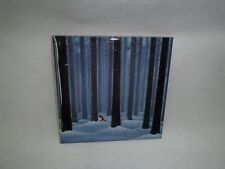 Ceramic Cork Backed Tile Trivet Hot Pad E Melhuish Tomte in Trees Helje Style#24