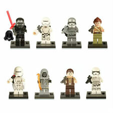 8 PC 2017 NEW STAR WARS MINIFIGURES CAPTAIN PHASMA KYLE REN FIT WITH LEGO TOY UK
