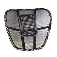 #QZO Black Mesh Cloth Car Seat Cushion Lumbar Waist Back Support Lumbar Pillow