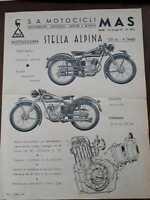 VOLANTINO PUBBLICITARIO MOTO LEGGERA STELLA ALPINA 125 CC 4 TEMPI