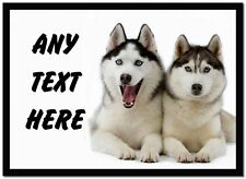 Husky Dogs Personalised Dinner Table Placemat
