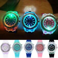 Unisex Digital Sport LED Watch Wrist Watches Flash Backlit Quartz Kids Boy Girls