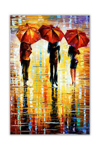 AT54378D Portrait Three Umbrellas By Leonid Afremov Abstract Poster Wall Prints