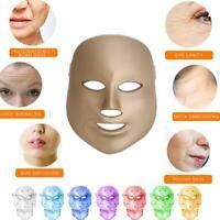 7Colors LED Light Photon Face Mask Rejuvenation Skin Therapy For Anti Wrinkles