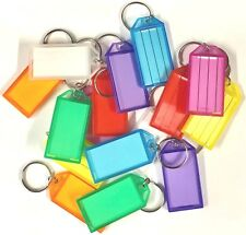 Large Key Ring Tags/Identifiers/Labels - Mixed Colours - Pack of 100
