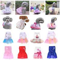 Dog Cat Flower Bow Tutu Dress Skirt Pet Puppy Princess Costume Apparel Clothes