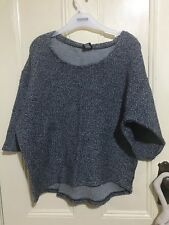 Bond blue and white speckled knit size XS