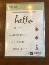 Stampin' Up! Hello sale a bration New birthday friend 141243 Rubber Stamp Mounts