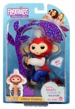 New Authentic Liberty Fingerlings Glitter Monkey Patriotic Red White & Blue USA
