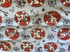 Disney nautical FQ fat quarter cotton NEW perfect masks 18x22 Cruise DCL Mickey