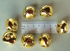 "LOT 300 Shiny Gold Tone Jingle BELLS ~ 25mm (~1"") ~ Metal Craft Holiday Bells"