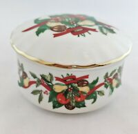 Heritage House Celebration Collection Porcelain Trinket Box Silent Night