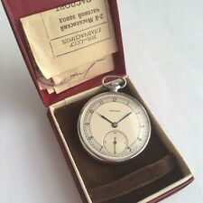 NOS Molnija slim pocket watch, 1952 year, USSR, collectable