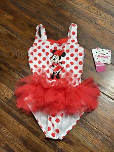 MINNIE MOUSE DISNEY UPF-50+ Polka Dot Swim Bathing Suit NWT Toddler's Sz. 2T