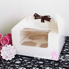 60x Cupcake Boxes (4-holes) clear window cake muffin carrier boxes