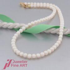 Schnäppchen: Süßwasser-Perlen-Kette mit Karabinerverschluss in 585 Gelbgold