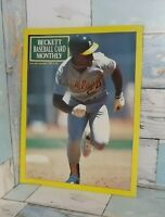 BECKETT  CARD PRICE GUIDE 1990 RICKY HENDERSON COVER VF CONDITION $10 SHIPPED