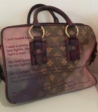 Louis Vuitton limited edition Richard Prince Mancrazy jokes bag